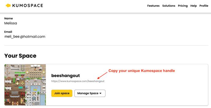 kumospace handle
